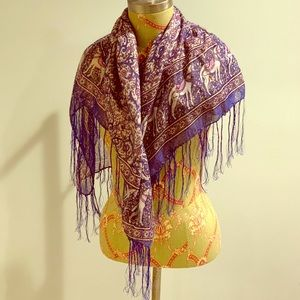 Accessories - Blue, Purple and Gold Horse Scarf